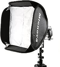 Micnova SB40 16x16 Softbox Kit with Speedlight L-Type Bracket for All Camera Flashes