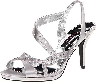 Nina Women's Benicia-YS Sandal,Silver,10 M US