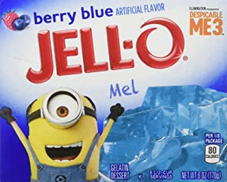 JELL-O Berry Blue Gelatin Dessert Mix (6 oz Boxes, Pack of 4)