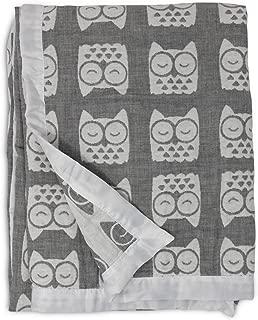 Best living textiles muslin jacquard blanket grey owl Reviews