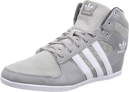 adidas Men's Plimcana 2.0 Mid Trainers, Grey (mgsogr/ftwwht), 2 UK ...