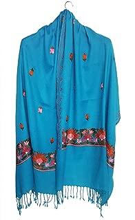 Mehrunnisa Crewel 刺绣羊毛披肩/大码围巾 Kashmir