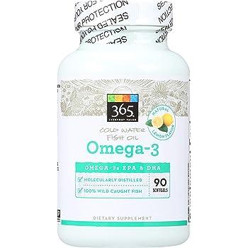 365 Everyday Value, Omega-3, Lemon Flavor, 90 ct