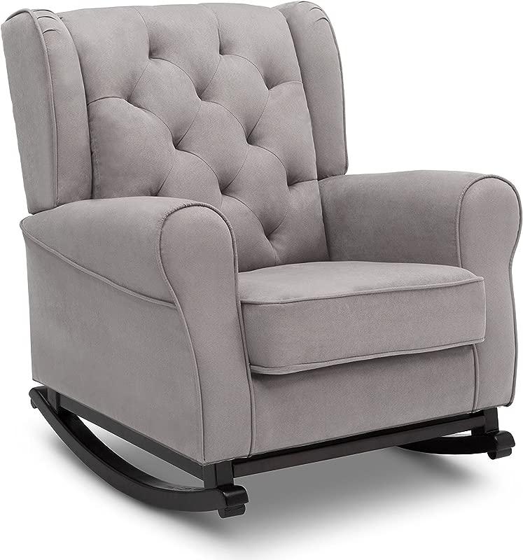 Delta Children Emma Upholstered Rocking Chair Dove Grey