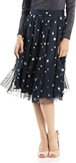 Review Women's Wish Upon A Star Skirt Navy/Silver