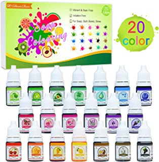 Colorante Jabón 20 Colores - Colorante de Bomba de Baño L
