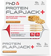 PhD Nutrition High Protein Flapjack Bars Peanut Butter 75 g Pack of 12