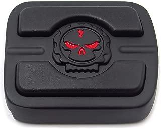 SMT-Black Skull Small Brake Pedal Pad Compatible With Fat Bob FXDF Wide Glide FXDWG CVO Pro Street Breakout Street 500 XG500 Blackline FXS Softail Rocker FXCW Night Train FXSTB [B01EXLZ2HW]