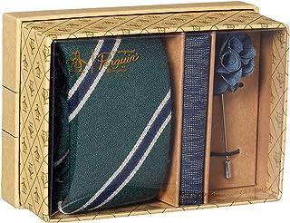 Original Penguin 男式 3 件套图案领带,方形口袋和翻领别针盒