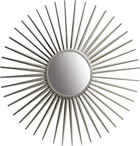 "36"" Silver Sunray Wall Accent Mirror"