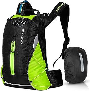 Mochila de bicicleta impermeable para hombre y mujer, 16 L, pequeña mochila de senderismo, ligera, mochila deportiva, mochila reflectante para senderismo, escalada, ciclismo, correr