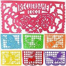 TexMex Fun Stuff Coco Inspired Papel Picado Banner- Rainbow Plastic Large (16 Feet) Mexican Garland