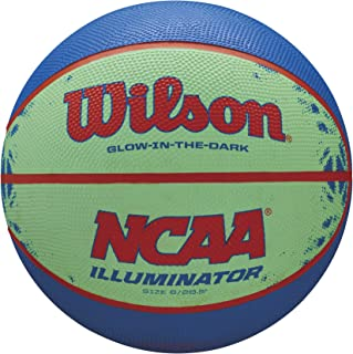 "Wilson NCAA Illuminator Glow in The Dark Basketball, 28.5"" Blue/Yellow"
