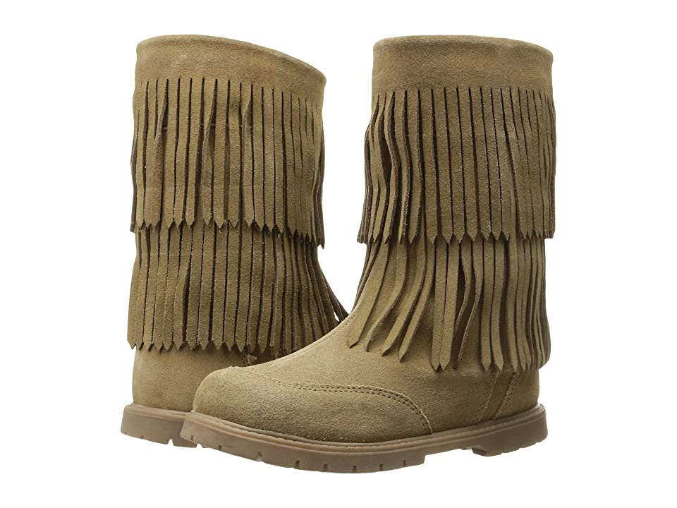 Roper Kids Fringe Moc (Toddler/Little Kid) (Tan Suede Vamp Shaft) Cowboy Boots