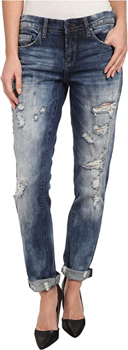 Distressed Denim Boyfriend Relaxed Straight Jean in Fit Of Rage