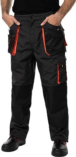 Pantalon de Travail Homme, avec des Poches Genouillere. Pantalon Travail Homme, Vetement Travail, Multi Poches, Grand...