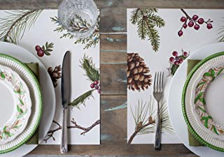 Hester & Cook Winter Collage Paper Placemat, 30 Sheets