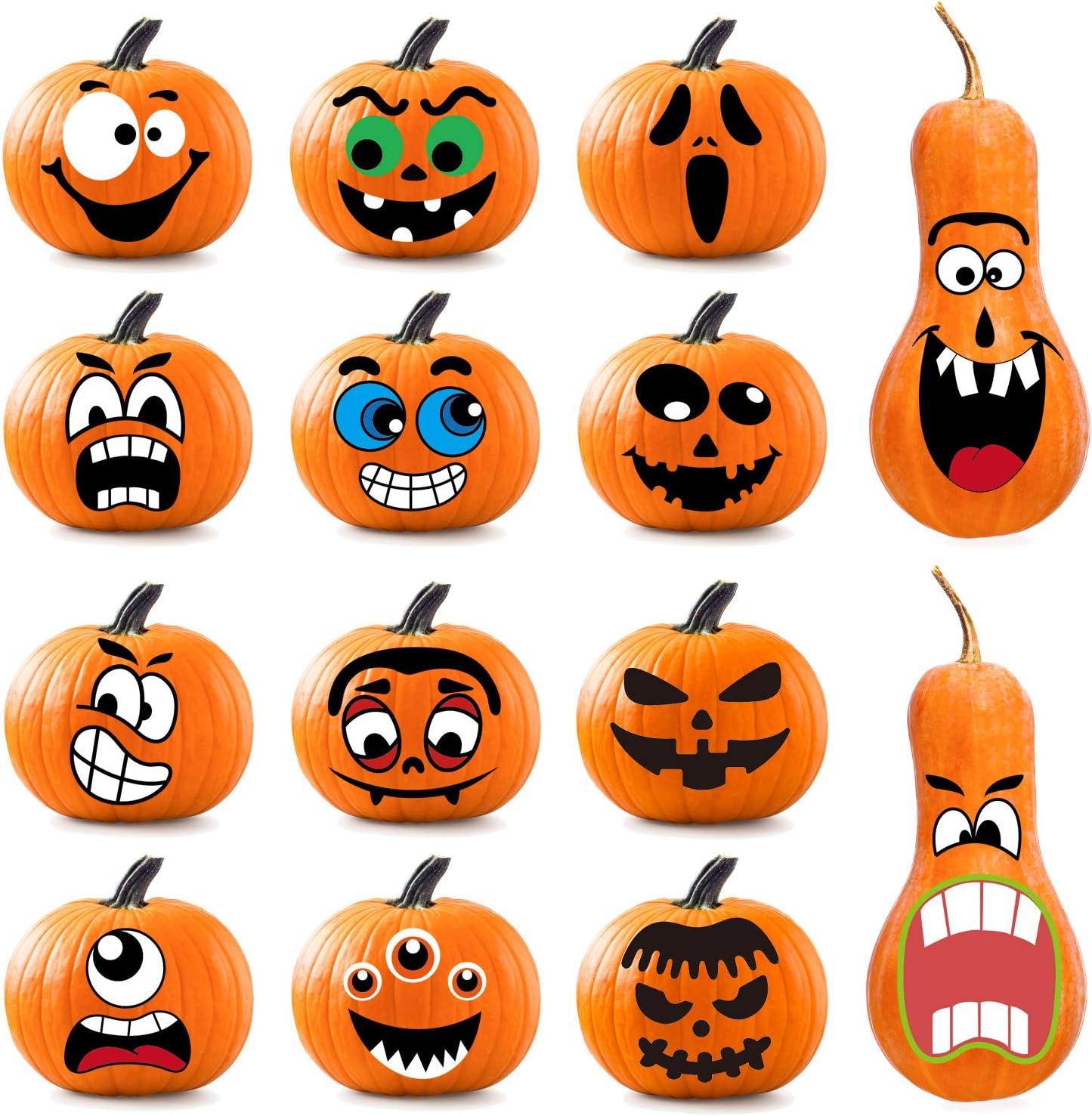 Happy pumpkin trick or treat 8\u8dglass Halloween ornament ...