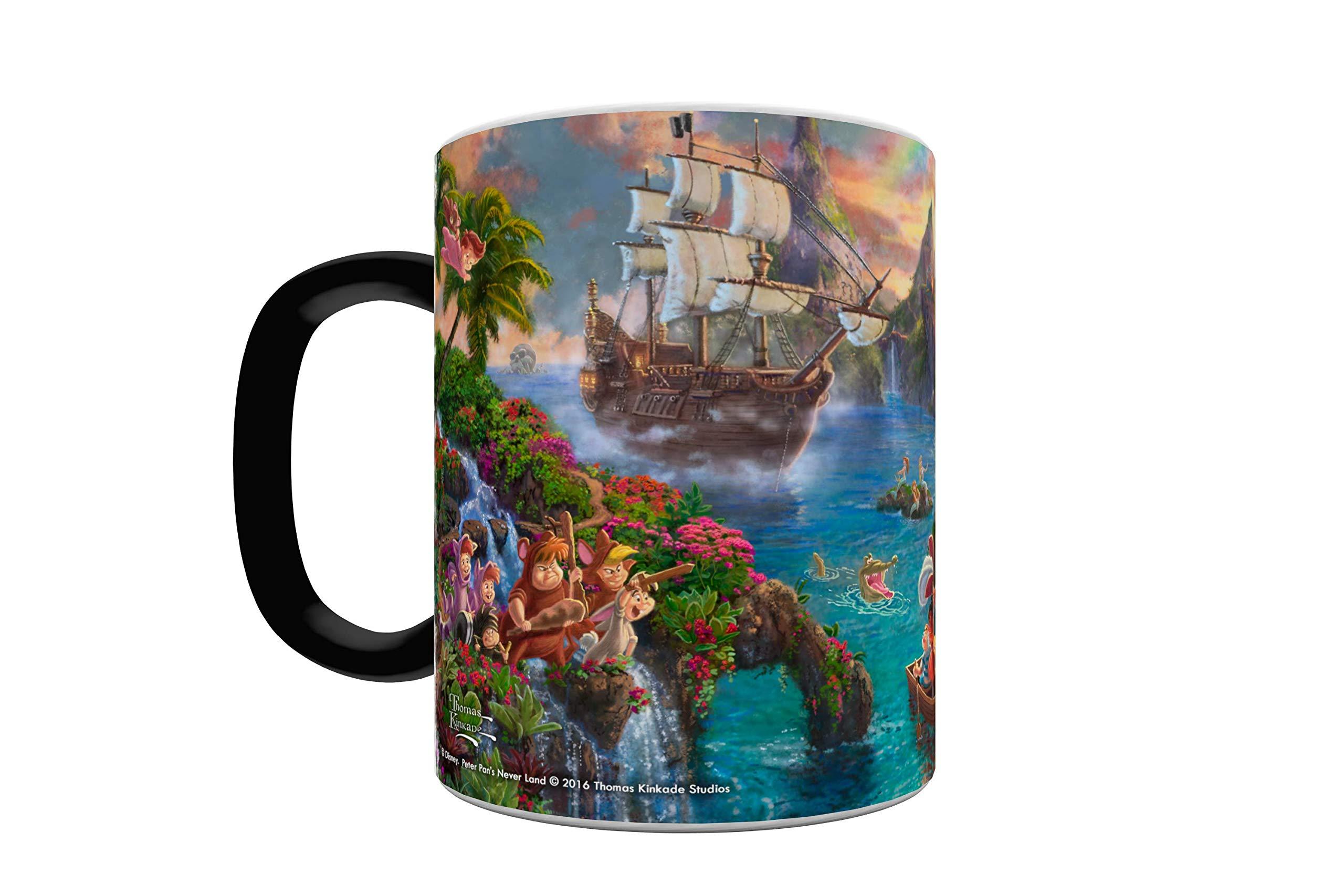 Disney - Peter Pan - Neverland - One 11 oz Morphing Mugs Color Changing Heat Sensitive Ceramic Mug – Image Revealed When HOT Liquid Is Added!