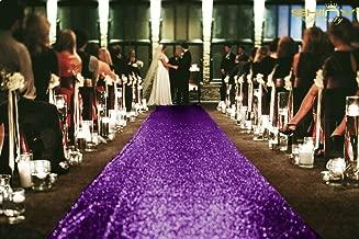 ShinyBeauty Sequin Aisle Runner Purple 4x25ft Aisle Runner Linen Aisle Runner Decor Burlap Aisle Runner for Wedding P1023