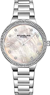 Womens Watch - Pave Crystal Bezel - Mother of Pearl Dial with Crystal Accents, 3907 Watches for Women Collection