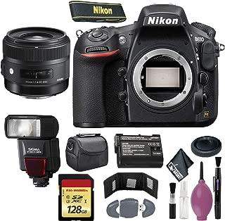Nikon D810 DSLR Camera (Body Only) (International Model) - 128GB - Case - EN-EL15 Battery - EF530 ST & 30mm f/1.4 DC HSM Art Lens