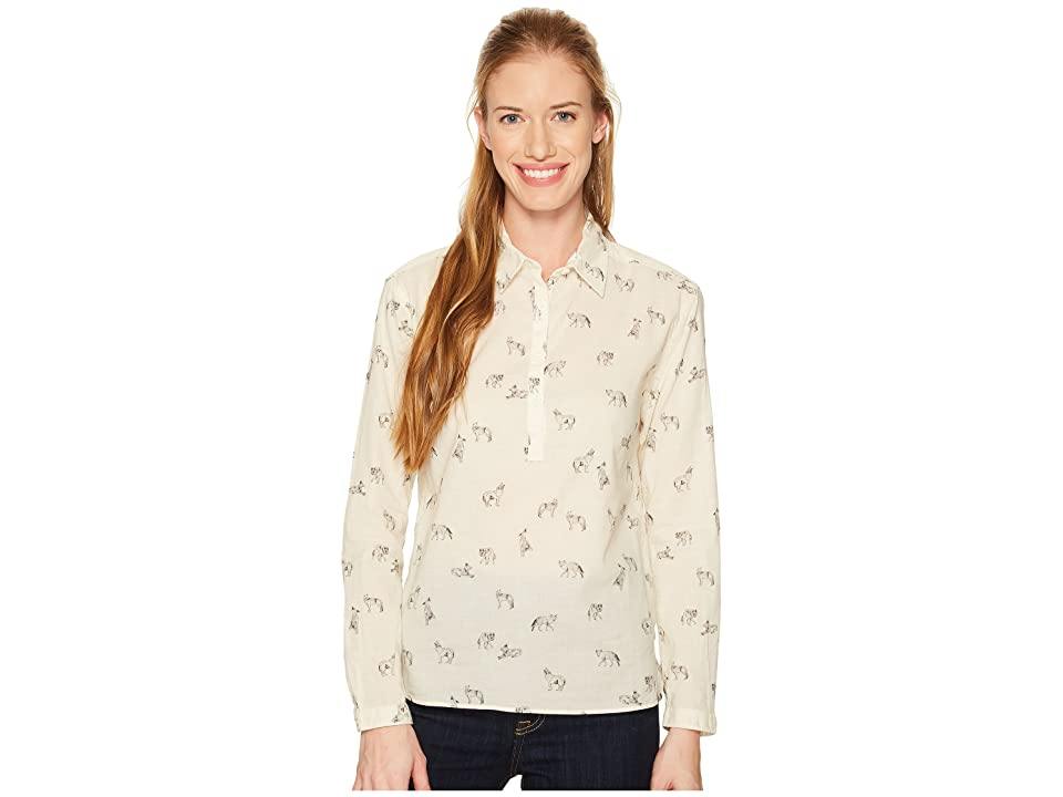 The North Face Barilles Pullover Shirt (Vintage White Coyotes Print) Women