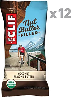Clif Nut Butter Filled - Organic Snack Bars - Coconut Almond Butter - (1.76 Ounce Protein Snack Bars, 12 Count)