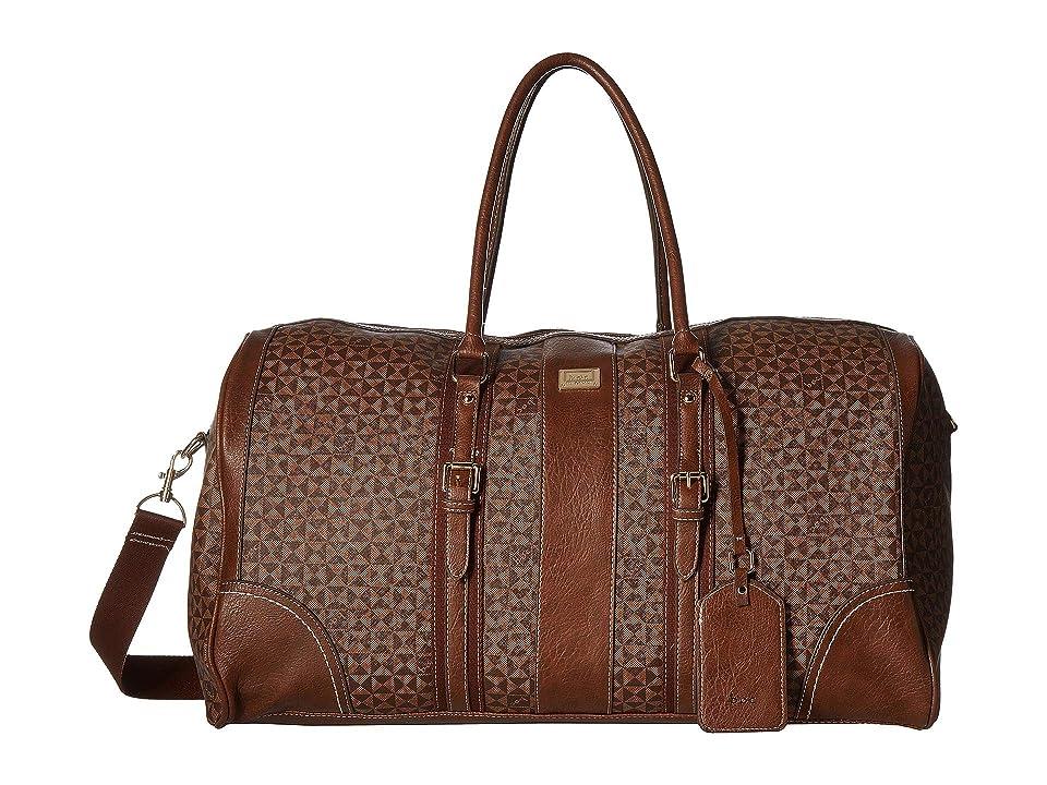 b.o.c. Travis Overnight Satchel (Chocolate/Saddle) Satchel Handbags, Brown