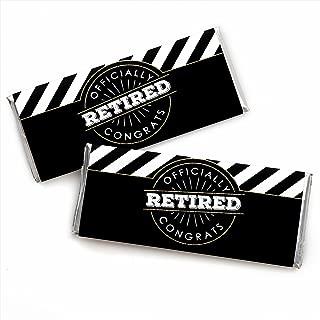 Happy Retirement - Candy Bar Wrapper Retirement Party Favors - Set of 24