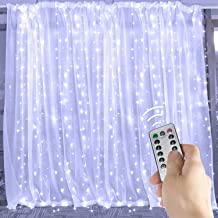600 LED Curtain String Light 20 Feet Pro Icicle Lights with Remote and Timer, 8 Mode, Not Connectable, Twinkle Lights Great for Window Wedding Party Home Garden Bedroom Outdoor Indoor Wall, White