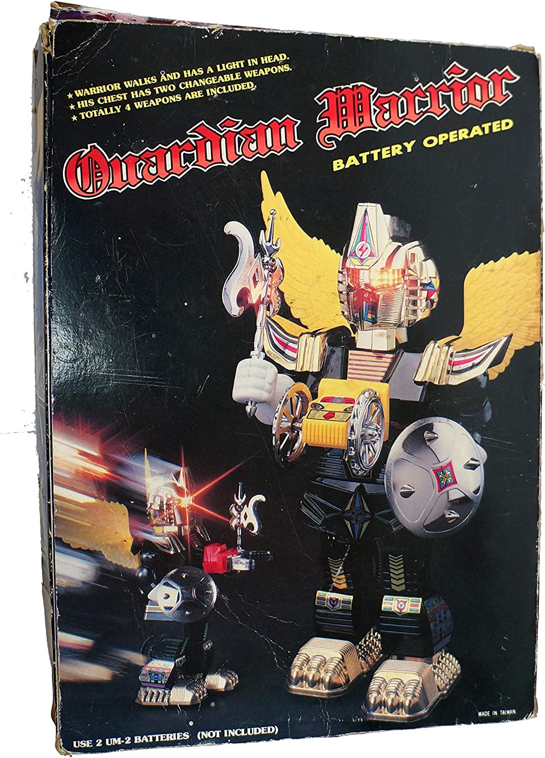 Guardian Warrior Vintage 1986 Son Ai Toys Battery Operated Electronic 12 Inch Robot  Fully Working In The Original Box