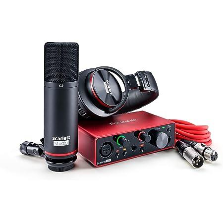 Focusrite Scarlett Solo Studio (3ª generación) Interfaz de Audio USB y Paquete de grabación con Herramientas Pro | First