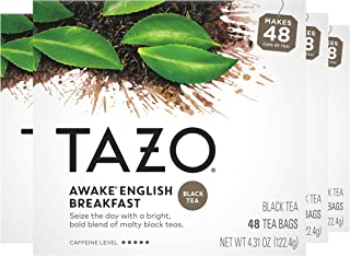 Tazo Tea Bags For a Bold and Delightful Traditional Breakfast-Style Black Tea Black Tea With High Caffeine 48 Count, Pack ...