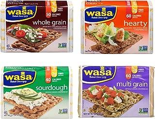 Wasa Crispbread Variety 4-Pack: Multi Grain, Whole Grain, Hearty Rye & Sourdough