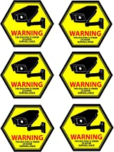 Mandala Craft Security Camera Decal Warning Window Stickers, CCTV Video Surveillance Recording Signs from Vinyl for Indoor...