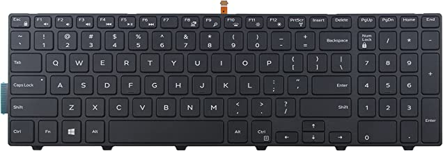 CHNASAWE Laptop Replacement Backlit keyboard for Dell Inspiron 15 3541 3542 3543 3551 3552 3553 3555 3558 3559 5542 5543 5545 5547 5548 5551 5552 5555 5557 5558 5559, 17 5748 5749 5755 5758 5759