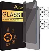 Ailun 2Pack Privacy Screen Protector Compatible for iPhone 12 Pro[6.1 inch] + 2 Pack Camera Lens Protector,Tempered Glass Film,[black] [9H Hardness] - HD