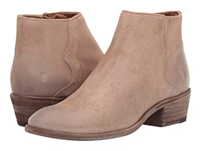 Frye Carson Piping Bootie (Beige Multi Waxed Oiled Suede) Women