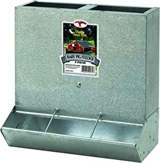 """Little Giant AF7SL 7/"""" Metal Small Animal Feeder with Lid and Sifter Bottom"""