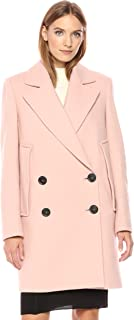 Theory Womens H1021410 Cape Coat Wool Coats - Pink