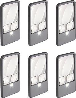 مكبر جيب بإضاءة LED متعددة الطاقة للقراءة والفحص والرؤية المنخفضة والحرف اليدوية والهواية والمهام (PM-33 ، PM-33MU)