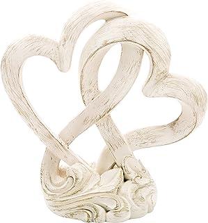 Fashioncraft Vintage Style Double Heart Design Cake Topper/Centerpiece