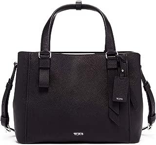 Varek Pearl Leather Laptop Tote - 12 Inch Computer Bag for Men and Women - Black