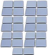 Filzada® 26x Patins Pour Meubles Téflon auto-adhésifs - 30 x 30 mm (carré) - Chaise de Planeur professionnels/Planeur PTFE...