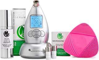 Microderm GLO Complete Skincare Package Includes Diamond Microdermabrasion System, Premium, Fine, Massage Tips, 10Mm Filte...