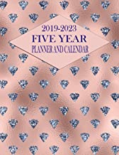 2019-2023 Five Year Planner And Calendar: Rose Gold Diamond 60-Month Planner - Monthly Agenda And Organizer