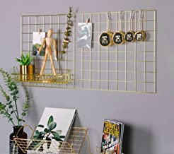 grid accent wall