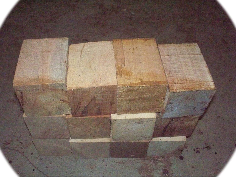 Pack of Twelve unisex 12 low-pricing Maple Bottle Lathe Blanks Block Stopper Wood
