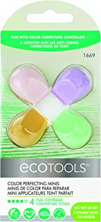 Ecotools Cruelty Free Color Perfecting Minis; Four Sponges Designed with Eco Foam Technology, a Unique Shape for Enhanced Precision
